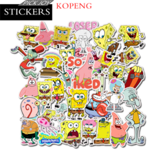 50PCS SpongeBob Graffiti Stickers  Luggage Laptop Skateboard Car Motorcycle Bicycle Stickers 50pcs 4-8cm