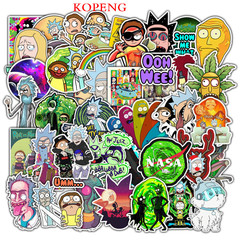 50PCS  Rick and Morty Graffiti Stickers  Luggage Laptop Skateboard Car Motorcycle Bicycle Stickers 50pcs 4-8cm