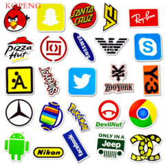 50PCS Fashion Brand B Graffiti Stickers  Luggage Laptop Skateboard Car Motorcycle Bicycle Stickers 50pcs 6-12cm