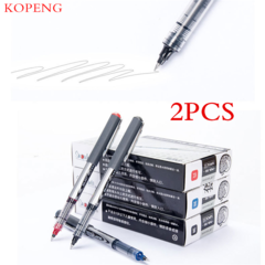 Office supplies signature pen, white-collar writing pen, observable ink volume 2pcs(color random)