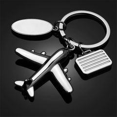 Men's and women's key chains model airplanes toys  costumes hot-selling accessories silver one size