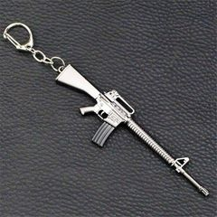 AKM Rifle M16 Rifle Creative Keychain Hot Decoration Game toy M16 12*3 cm