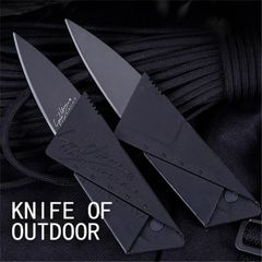Outdoor Sports Camping Card Type Folding Pocket Knife For Survival and Safety Black 1pcs