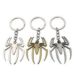 1Pcs Spiderman Alloy Keychain Popular Toy Game Movie Gray  (c) 11*4*0.4 cm