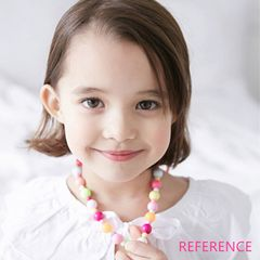 Girl children's toy jewelry set necklace bracelet earring clip ring random 5pcs (set )