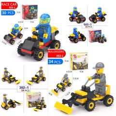 Building toy blocks to build mini lego children's brains Lego Family Entertainment race car (503-1) one size