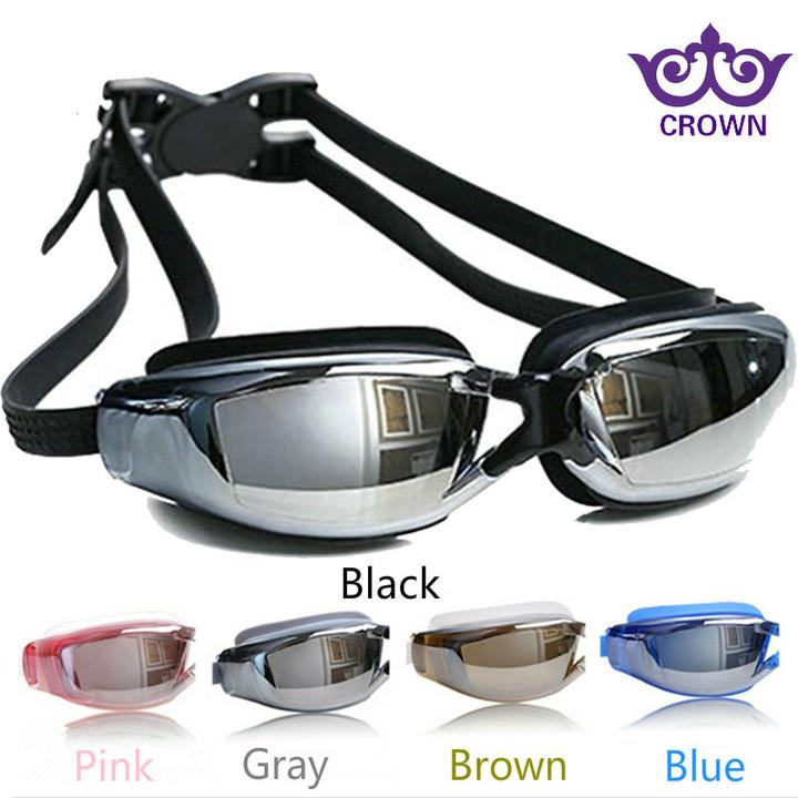 3fce6729f5ef Swimming Goggles Myopia Swim glasses Waterproof and anti-fog HD men and  women big frame