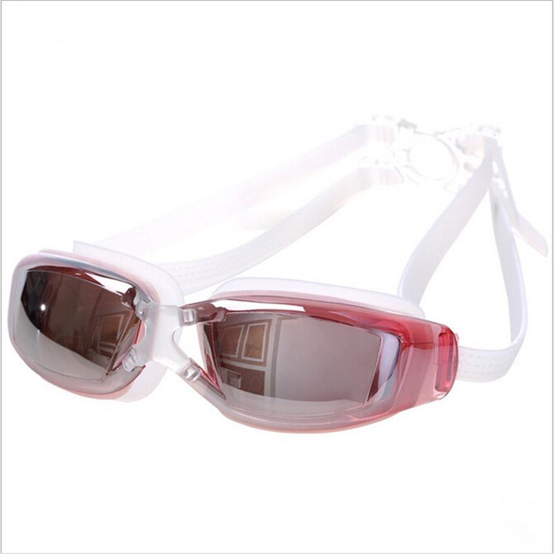 6141a470e81 Swimming Goggles Myopia Swim glasses Waterproof and anti-fog HD men and  women big frame plating flat Plain glass black one size   Kilimall Kenya