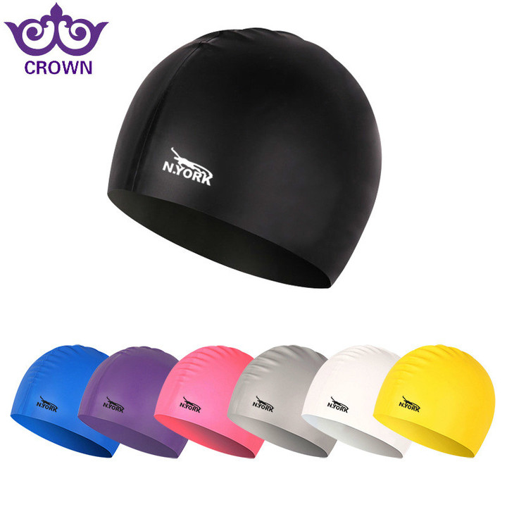 Silicon Waterproof Swimming Caps Protect Ears Sports swimming pool Hat swimming costume matching cap purple one size