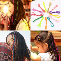 10 Pcs Hairs rope color rope braided Korean disk hair tied hair ribbon rope braided braid random 10 PCS