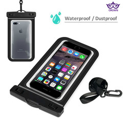 Transparent PVC Waterproof Mobile Phone Bags for ouotdoor drifting diving sealed swimming black one size