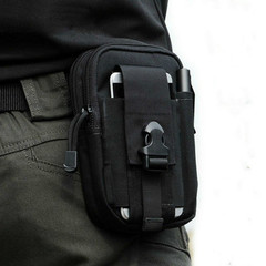 Sports mobile phone bags men multi-function outdoor running waterproof pockets bag packs for men Black as the picture show
