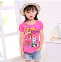 Children's clothing summer girls short-sleeved T-shirt white 110cm