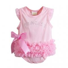 Newborn Baby Girl Pink Bowknot Sleeveless Romper Jumpsuit Bodysuit Dress Skirt Clothes 6-24 Months Pink 6-12 Months