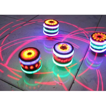 Colorful laser Musical Wooden Child Toy spin Light Music Toys Development Toy colorful one size