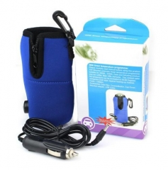 Portable Car Milk Water Bottle Warmer Heater Pouch for Baby blue one size