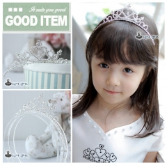 Bridal Princess Wedding Crown Crystal Headband Tiara Hair Band silver