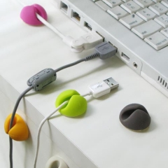 6 Pcs Cable Drop Clip Desk Tidy Organiser Wire Cord Lead TV USB Charger Holder color random one size