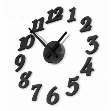 "Stylish ""Black Numbers"" DIY Self Adhesive figures Wall Large Clock black one size"