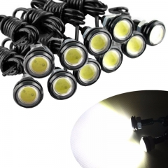10Pcs 9W LED 23mm Eagle Eye Light Car Fog DRL Daytime Reverse Backup Parking Signal yellow one size