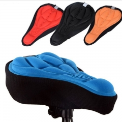 Cycling 3D Pad Bicycle Bike Soft Gel Saddle Seat Cover Cushion black one size