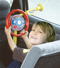 Childrens Electronic Backseat Driver Car Seat Steering Wheel Educational Toy Game red one size