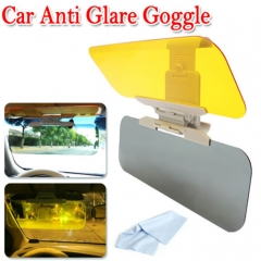 HD Car Anti Glare Dazzling Goggle Day Night Vision Driving Mirror Sun Visors grey one size