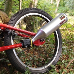 Kids Bicycle Toy Exhaust System Turn Your Bike Into A Motorcycle siliver one size