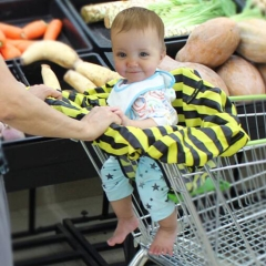Portable Baby High Chair Shopping Cart Seat Cover yellow universal