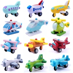 12 pcs Baby Children Gift Educational Wooden Mini Toy Planes colorful one size