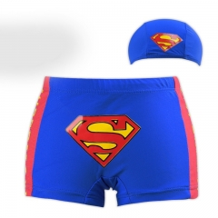 Superman Child Boy Swimming Short With Cap 1-3 Years blue one size