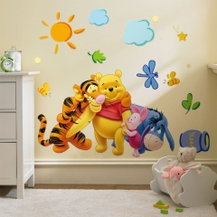Baby Children Kids Bedroom Decoration Room Wall Sticker Decal 3 Best Friends yellow one size
