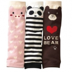 1pc Cute Animal Pig Panda Bear Cotton Baby Leg Warmer Leggings Socks pink one size
