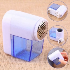 Portable Electric Fuzz Pill Lint Fabric Remover Sweater Clothes Shaver blue oen size