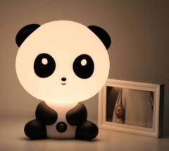 Baby Kids Room Decoration Nursery Bedside Panda LED Lamp Night Light black 10 8w