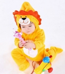 Lion Style Winter 6-24 Months Long Sleeved Baby Hooded Costume yellow 6-12 months