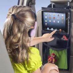Kids Car Back Seat Hanging Bag Travel Storage Tablet Holder with Pocket