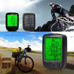 Cycling Bicycle Bike 24 Functions Computer Odometer Speedometer Waterproof black one size