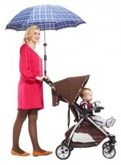 Black 360 Degree Baby Stroller Umbrella Holder Mount black universal
