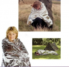 Rescue Mylar Thermal Blanket Wrap Keep Warm Outdoor Survival Emergency Gear Tool silver
