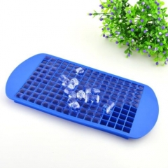 Practical 160 Ice Cubes Frozen Cube Bar Pudding Silicone Tray Mould Mold Tool blue one size