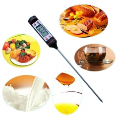 Digital Cooking Food Probe Meat Kitchen BBQ Grill Temperature Thermometer black one size