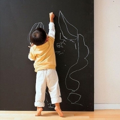 Peel & Stick Office Children Room Drawing Notice Blackboard Wall Sticker black one size