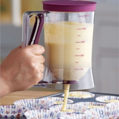 900ml Batter Dispenser Jug For Cupcake Pancakes Muffins Waffles No Mess Release white one size