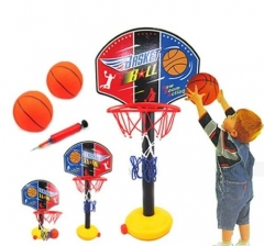 Kids Outdoor Sports Portable Basketball Hoop Toy Set blue one size