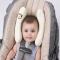 Baby Car Seat Stroller Neck Head Support Travel Headrest Cushion yellow universal