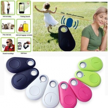 Mini Wireless Bluetooth Anti Lost Alarm Tracker Key Founder GPS iOS/Android white one size