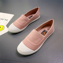 Leisure Shallow Mouth Canvas Shoes Soft-soled Sport Shoes Flat Shoes For Women espadrilles Pink 35
