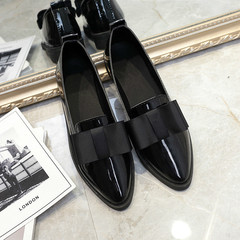 Ladies Shoes women new bowknot Round Toe Flat Heel Casual shoes espadrilles soft leather black 40
