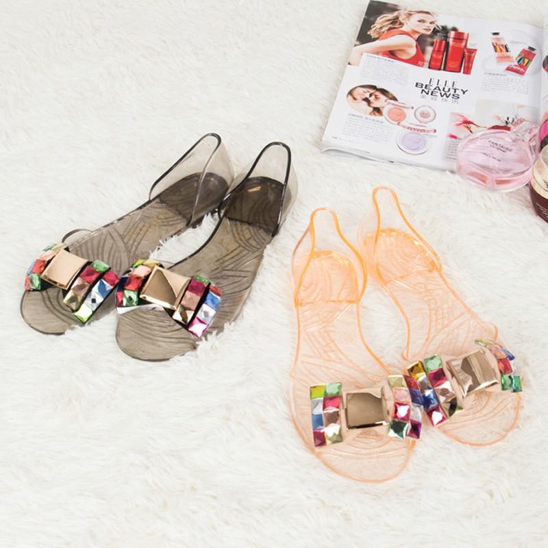 eff5e66da 2018 Summer Sandals Women Casual Bowtie Shoes Fashion Jelly Shoes  Transparent PVC Flat Shoes pink 35  Product No  9838498. Item specifics   Brand